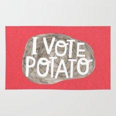 I VOTE POTATO Rug