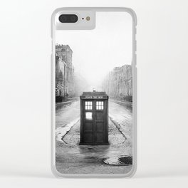 Tardis In The Old City Clear iPhone Case