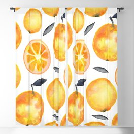 Lovely Oranges Bananas Pattern Blackout Curtain