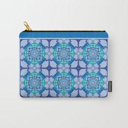 World Citizen Mandala Tiled - Blue Green Carry-All Pouch