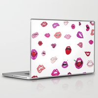 lip Laptop & iPad Skins featuring Lip Service by Gemma Roe