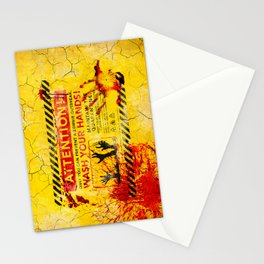 Prevent Zombie Outbreak: Wash your hands! Stationery Cards