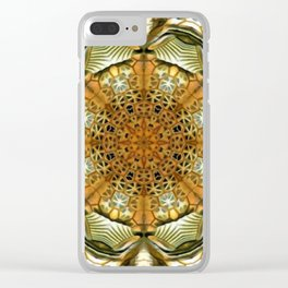 Animal Print Abstract Clear iPhone Case