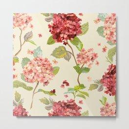 Fall Hydrangeas, Floral Print Metal Print
