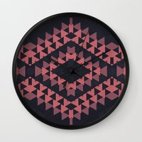 navajo Wall Clocks featuring navajo n3 by spinL