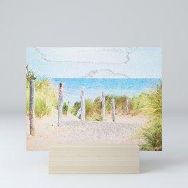 Beach Posts Mini Art Print