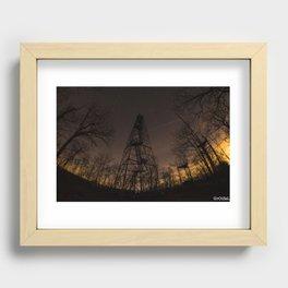 Ninham Fire tower Recessed Framed Print