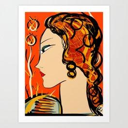 Portrait of a Woman Art Deco  Art Print