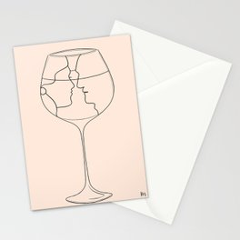 Lips like cherry wine - line version Stationery Cards