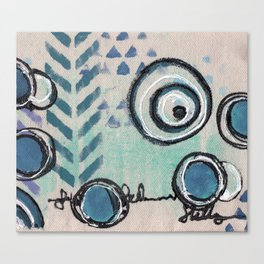 Tribal in blue Canvas Print