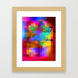 Modern Judaica- Saturated Star Framed Art Print