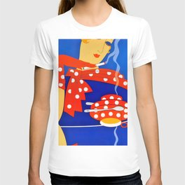 """Art Deco Illustration """"Coffee and Cigarettes"""" T-shirt"""