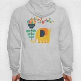 Elephant with giant flower Hoody