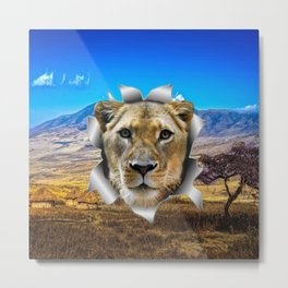 Lioness from Africa Metal Print