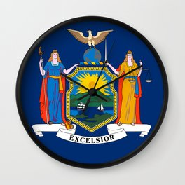 New York State Flag Wall Clock