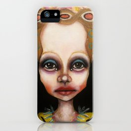 blue eyeshadow muksch iPhone Case