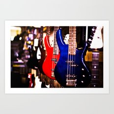 Guitars Art Print