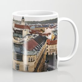 Prague Cityscape at sunset Coffee Mug
