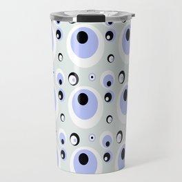 Crazy Circles - blue Travel Mug