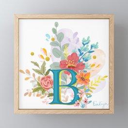 Monogram B Framed Mini Art Print