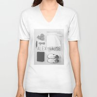 alex vause V-neck T-shirts featuring If I Were Alex Vause (2) by Zharaoh