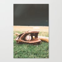 baseball Canvas Prints featuring BASEBALL by Ylenia Pizzetti