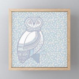 Winter Owl Framed Mini Art Print