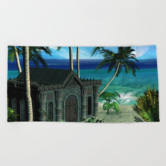 The  forgotten island Beach Towel