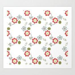 Ditsy Flower Chain Art Print