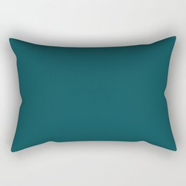 Best Seller Dark Turquoise Solid Color Pairs to Benjamin Moore Tucson Teal 2056-10 - Accent Shade Rectangular Pillow