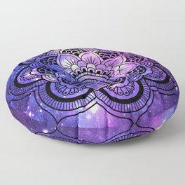 Mandala : Purple Blue Galaxy Floor Pillow