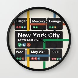 Filligar live in New York Wall Clock