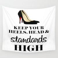 heels Wall Tapestries featuring Heels & Standards by LuxuryLivingNYC