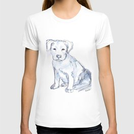 Pit Bull Puppy (for Kerry), watercolor T-shirt