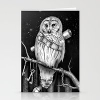 hedwig Stationery Cards featuring Hedwig by Tim Van Den Eynde
