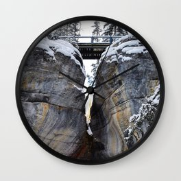 The gates of Maligne Canyon Wall Clock