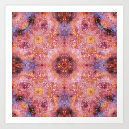 Cosmic Light Mandala Art Print