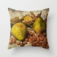 fruits Throw Pillows featuring Fruits by Angela Dölling, AD DESIGN Photo + Photo