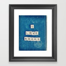 I Love Books Framed Art Print