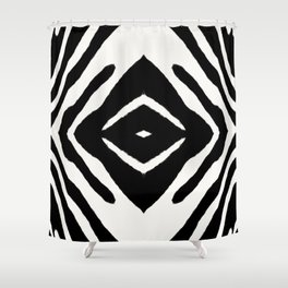 Black Ink Medallion by Juul Shower Curtain