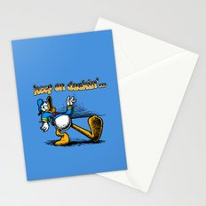 keep on duckin Stationery Cards