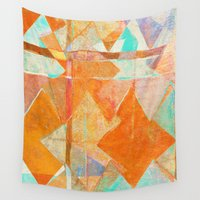 merry christmas Wall Tapestries featuring Merry Christmas by Fernando Vieira
