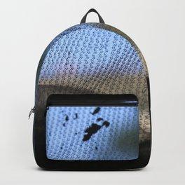 grey net blue sky folds Backpack