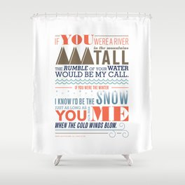 Large – All I Want Is You Shower Curtain
