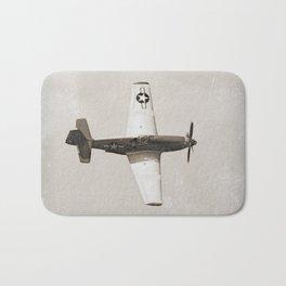 Antique Fighter Airplane Bath Mat
