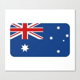 australia flag Canvas Print