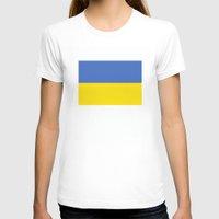 ukraine T-shirts featuring Ukraine country flag by tony tudor