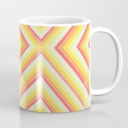 Bright Sunshine - Red, Orange and Yellow Lines - Illusion Art - 57 M Ave Coffee Mug