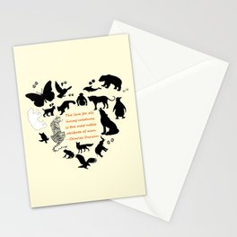 Love of the Animals Typography Stationery Cards