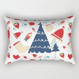 Christmas tree blue Rectangular Pillow